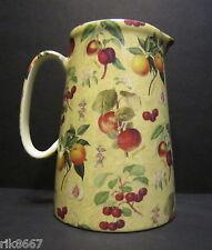Heron Cross Pottery Botanical Fruit 4 Pint English Milk Jug very big (vase)