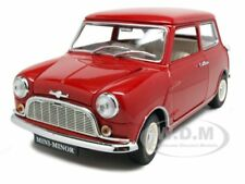 MORRIS MINI MINOR RED 50th ANNIVERSARY 1/18 DIECAST MODEL CAR BY KYOSHO 08105r