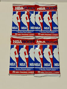 1990-91 NBA Hoops Basketball Series 2 15-Card Pack x 4 Brand New Factory Sealed