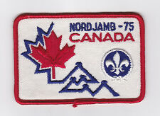 1975 World Scout Jamboree CANADA / CANADIAN SCOUTS Contingent Patch