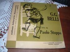 PAOLO STOPPA SUI SELCI DI ROMA 16 SONETTI G.G. BELLI     ITALY55  LUZZATI