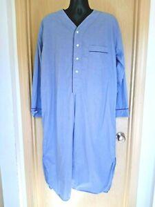 Brooks Brothers Night Shirt Men's L Blue Pajamas Sleepwear Retro Costume