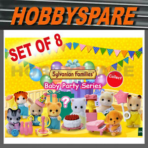 8x SYLVANIAN FAMILIES BABY PARTY TOY FIGURES BIRTHDAY EVENT TREAT GIFT GAME DIP