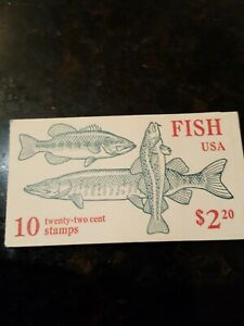 1986 Book Of 10 FISH Stamps USPS 22 Cent  $8.00 1 book...ALL THREE $20.00 !!!