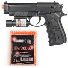 M9 BERETTA AIRSOFT SPRING PISTOL HAND GUN w/ LASER & 1000 BBs Full Size 6mm
