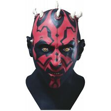 Dlx Darth Maul Latex Mask Star Wars Adult Full Overhead Halloween Costume Acsry