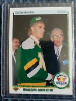 1990-91 Upper Deck NUMBER 1 DRAFT PICK  Derian Hatcher North Stars Card #359