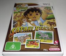 Safari Rescue Go Diego Go Nintendo Wii PAL *Complete* Wii U Compatible