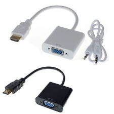 HDMI  Männchen to VGA Konverter Adapter With Audio 3.5mm USB Kabel 1080P for PC