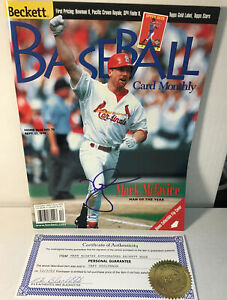 Mark McGwire autographed Beckett magazine w/coa St louis cardinals mlb