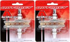 2-Pack Odyssey A-Brake Clear BMX Bicycle Brake Pads / Shoes Threaded Posts Soft