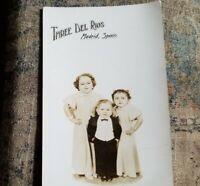 3 Del Rios Midget Family from Spain 1937 Postcard Written info on Back GC