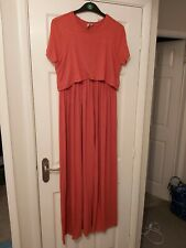 Asos maternity nursing red maxi dress with double layer size 12