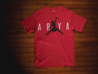 ARYA RED T-Shirt GoT Stark Bye Night King NOT TODAY Game of Thrones jordan jump