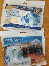 Lot of 2 Drinkwell Pet Fountain Activated Carbon Replacement Filter Cartridges
