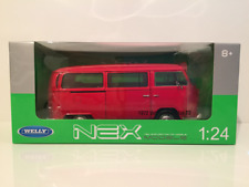 1972 Volkswagen Bus T2 Red Welly 22472 1:24 Scale