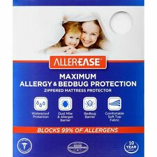 AllerEase Maximum Waterproof, Allergy and Bedbug Mattress Protector, Twin