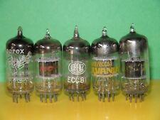 5 Vintage Low Testing 12At7 Ecc81 Vacuum Tubes