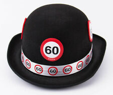 60TH BIRTHDAY BLACK BOWLER HAT TRAFFIC SIGN AGE PARTY