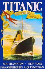 1912 Titanic R.M.S White Star Ocean Liner Travel Advertisement Poster Print 3