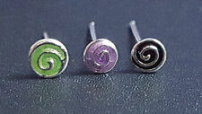 Colourful 925 Silver Swirl Nose Studs You Choose L Bendable Uk Seller