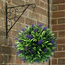 Topiary Flower Balls Artificial Lavender Long Leaf Hanging Basket Plant Decor
