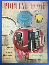 POPULAR HOME MAGAZINE VINTAGE ORIGINAL SPRING, 1951 ISSUE CLEAN UP PAINT UP FIX