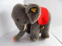 Steiff elephant  mohair button flag stuffed animal made in Germany 2446