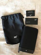 Montblanc - Nightflight Black Travel Organizer with zipper - Leather & Nylon