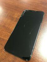 Genuine Original Iphone XS Max Black LCD,  Cracked Screen
