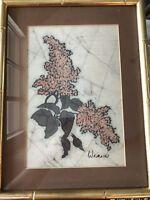 Vintage Cara Wernli Original Watercolor Signed Framed Matted Art