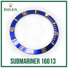♛ Blue & Gold Bezel Insert Aluminium Swiss Made For Rolex Submariner 16613 ♛