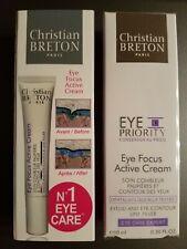 New & Sealed Christian BRETON Eye Priority Eye Focus Active Cream 0.30 fl oz