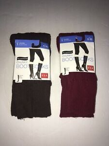 No nonsence women's chucky Boot socks Brown or red 4-10 below the knee