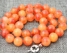 "gemstone bead necklace 18 "" charming 10 mm Northern cherry red"