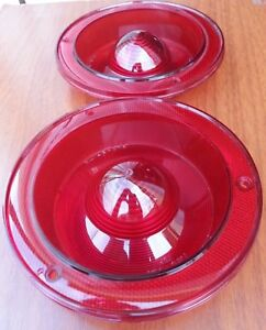 1960-1961 Ford Falcon Tail Light Lens Pair