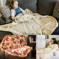Burrito Blanket Tortilla Food Blankets Pizza Pancake Soft Swaddle Throw Bla F0O3