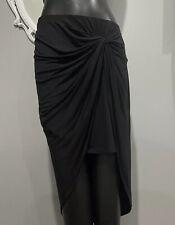 Large - INC INTERNATIONAL CONCEPTS Black Twist Front Hi-low Skirt