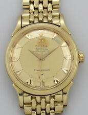 Vintage Omega Constellation Deluxe 18k Gold Step pie-pan 2852 de 1957