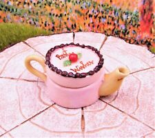 Miniature Dollhouse Fairy Garden Cake Teapot #2 - Buy 3 Save $5