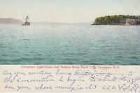 Tarrytown NY Lighthouse Hudson River Vintage  Postcard- 1905