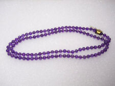 "Genuine Natural Amethyst Beaded Necklace 32"" Strand AAA Rated 7 mm In Size"