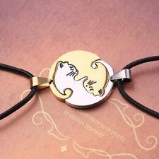 Couple Necklace Chain Pendant Cat Embrace Jewelry For Women Men Lovers Necklaces