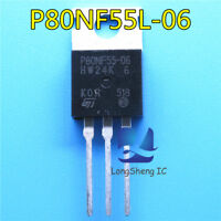 5pcs P80NF55L-06 STP80NF55L-06 TO-220 original imported field-effect transistor