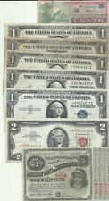 US LOT 8 NOTES. SILVER CERTIFICATE. 6RW 21JUN