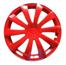 "4x16"" Wheel trims covers fit Vauxhall cars16"" wheels red full set x 4"