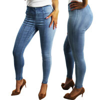New Womens Jeggings Stretchy Jeans Ladies Skinny Fit Denim Trousers Size 8-14