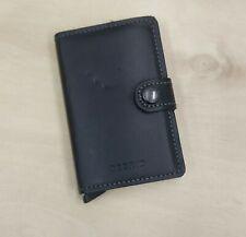 Secrid Mini Wallet Genuine Leather Black  RFID Safe Card Case 12 Card
