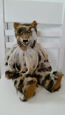 "OOAK Hyena Teddy Bear by Paisley Python 13"""