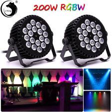 2PCS 18 LEDs U`King 200W RGBW Par Stage Light Color Mixing DMX Club Disco Party